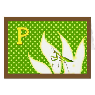 Reime für Wanzen A-Z (P für betenden Mantis) Karte
