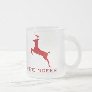 #Reindeer hashtag Tasse