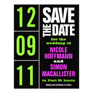 Reine Art Save the Date Individuelle Einladungen