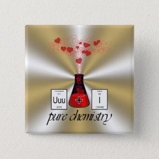 Reine Chemie Quadratischer Button 5,1 Cm