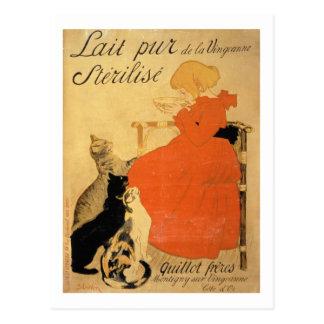 """Reine entkeimte Milch vom La Vingeanne"", 1894 (Co Postkarte"