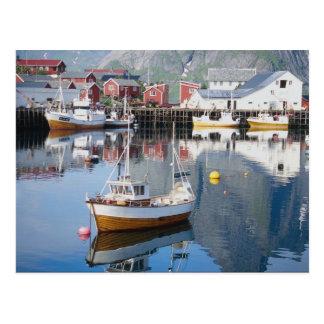 Reine Fischerdorf, Lofoten, Norwegen Postkarte