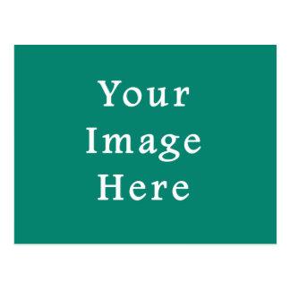 Reine grüne FarbTrend-Raum-Smaragdschablone Postkarte