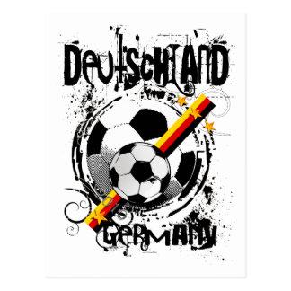 Reine Grunge-Deutschland-Fußball-T - Shirts und Postkarte