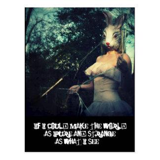 reine merkwürdige Welt Postkarte