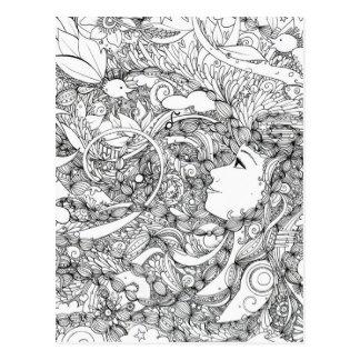 reine Morgenillustration Postkarte