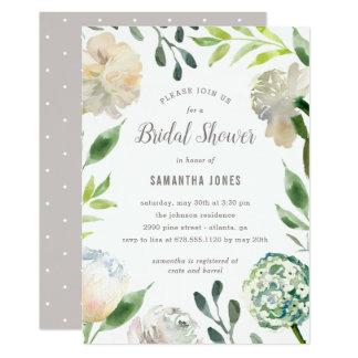 Reine Schönheits-Brautparty-Einladung Karte