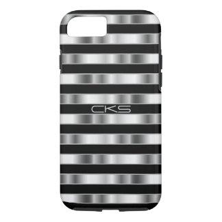 Reine silberne metallische Streifen | mit iPhone 7 Hülle