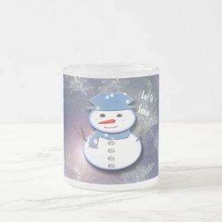 Reiner weißer Schneemann Mattglastasse
