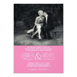 Reines Eleganz-Foto-Schwarzweiss-Hochzeit Karte