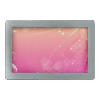Reines rosa abstraktes Hintergrundglühen Rechteckige Gürtelschnallen