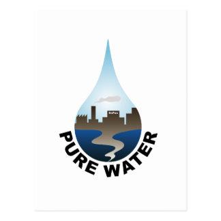 Reines Wasser Postkarte