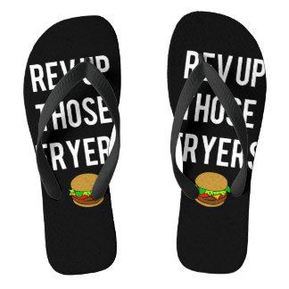 Reinfälle Rev-Up Those Fryers Flip (weiß) Badesandalen