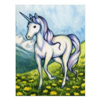 Reinheit - Einhorn-Fantasie-Kunst Postkarte