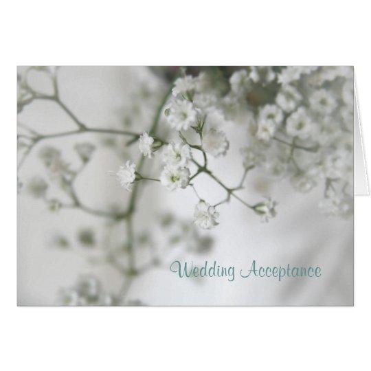 Reinheits-Hochzeits-Annahme Mitteilungskarte