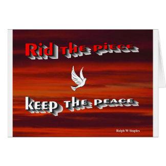 Reinigen Sie den Frieden behalten den Frieden, Karte