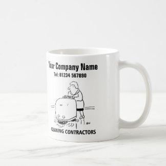 Reinigung hält Cartoon-Tasse instand Kaffeetasse