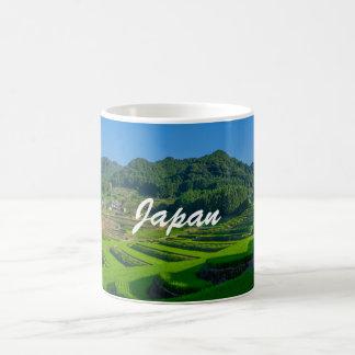 Reis-Paddy-Feld in Japan Kaffeetasse
