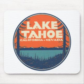 Reise-Abziehbild-Entwurf Lake Tahoe Vintager Mauspads