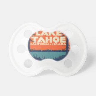 Reise-Abziehbild-Entwurf Lake Tahoe Vintager Schnuller