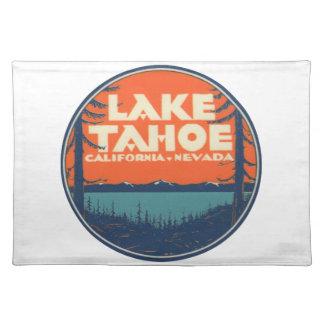 Reise-Abziehbild-Entwurf Lake Tahoe Vintager Tischset