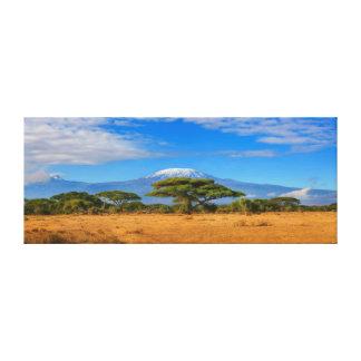 Reise Afrika Kilimanjaro GebirgsTansanias Kenia Leinwanddruck