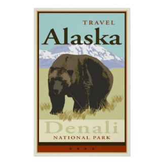 Reise Alaska Poster