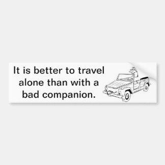 Reise allein autoaufkleber