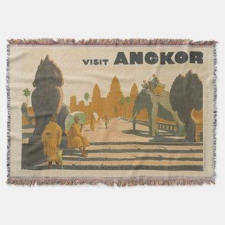 Reise-Andenken Angkor Wat Kambodscha Vintag Decke