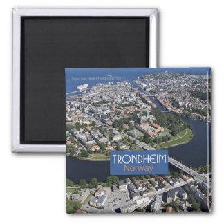 Reise-Andenken-Foto-Magnet Trondheims Norwegen Quadratischer Magnet