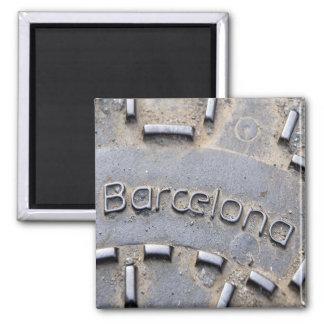 Reise-Andenken-Kühlschrankmagnet Barcelonas Spanie Quadratischer Magnet