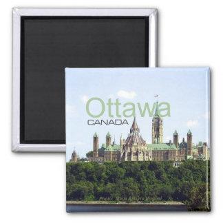 Reise-Andenken-Kühlschrankmagnet Ottawas Kanada Quadratischer Magnet