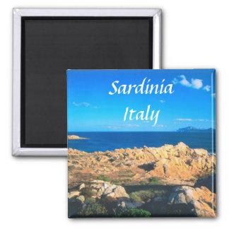 Reise-Andenken-Kühlschrankmagnet Sardiniens Italie Quadratischer Magnet