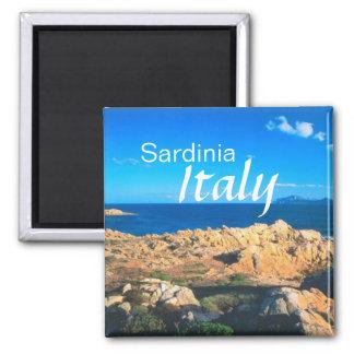 Reise-Andenken-Kühlschrankmagnet Sardiniens Quadratischer Magnet