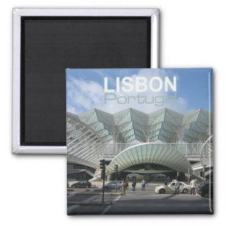 Reise-Andenken-Kühlschrankmagnete Lissabons Portug Quadratischer Magnet