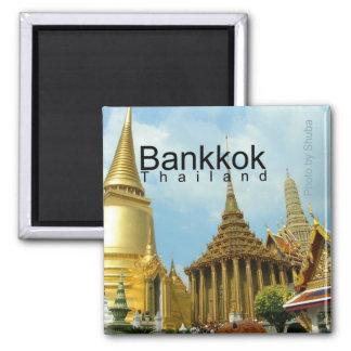 Reise-Andenken-Magnet Bangkoks Thailand Quadratischer Magnet
