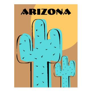 Reise-Andenken-Postkartesaguaro-Kaktus Arizona AZ Postkarte