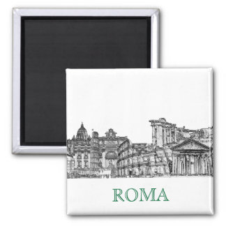 Reise-Andenkengeschenke Roms, Rom… Quadratischer Magnet