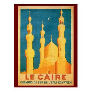 Reise-Anzeige Vintagen Kairos, Ägypten Postkarte