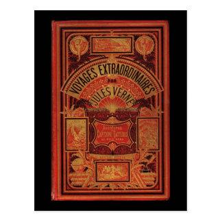 Reise-Bucheinband Jules Vernes außerordentlicher Postkarte