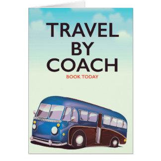 Reise durch Trainer Briten-Reiseplakat Karte