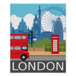 Reise-Eisenbahnplakat des London-Kunstdruckes Poster