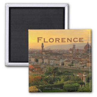 Reise-Foto-Andenken-Kühlschrankmagnet Florenz Ital Quadratischer Magnet