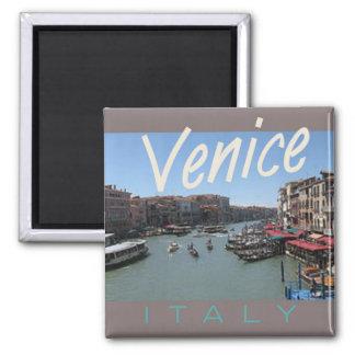 Reise-Foto-Andenken-Kühlschrankmagnet Venedigs Ita Quadratischer Magnet