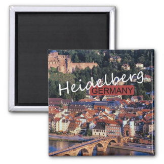 Reise-Foto-Andenken-Magnet Heidelbergs Deutschland Quadratischer Magnet