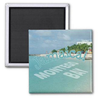 Reise-Foto-Andenken-Magnet Montego Bay Jamaika Quadratischer Magnet