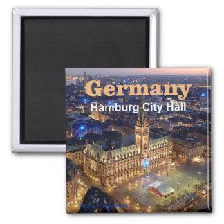 Reise-Foto-Andenken-Magneten Hamburgs Deutschland Quadratischer Magnet