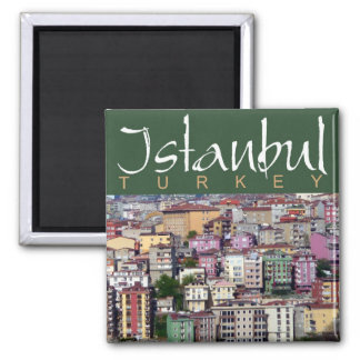 Reise-Foto-Andenken-Magneten Istanbuls die Türkei Quadratischer Magnet