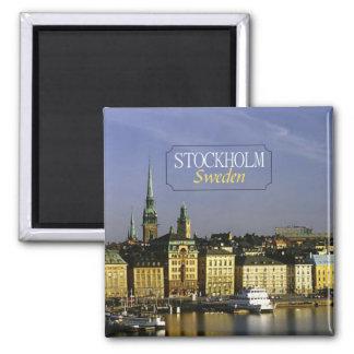 Reise-Foto-Kühlschrankmagnet Stockholms Schweden Quadratischer Magnet