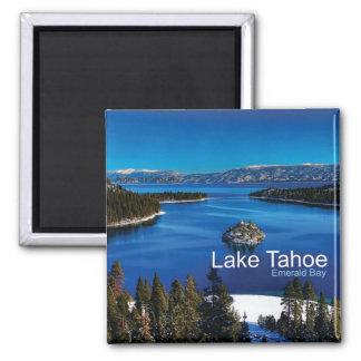 Reise-Foto-Kühlschrankmagnete Lake Tahoe Kaliforni Quadratischer Magnet